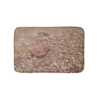 Clear water over stones bathroom mat