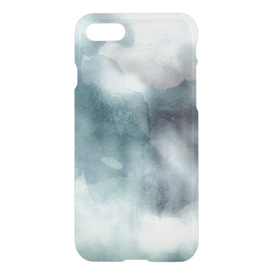 Clear watercolor ikat hipster pastel nautical blue iPhone 8/7 case