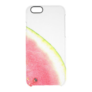 Clear Watermelon summer trendy fruit photo pink Clear iPhone 6/6S Case