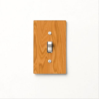 Clear wood light switch cover
