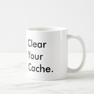 Clear Your Cache Coffee Mug