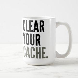 Clear Your Cache. Mug