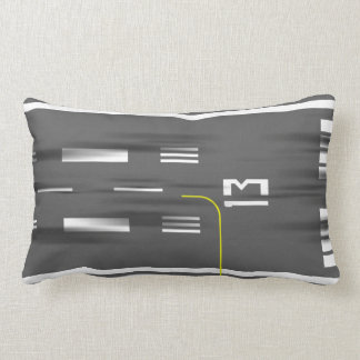 Cleared to Land Runway Pillow, Kai Tak 13/31 Lumbar Pillow
