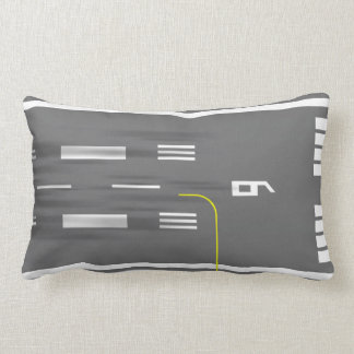 Cleared to Land Runway Pillow, Miami MIA 9/27 Lumbar Pillow