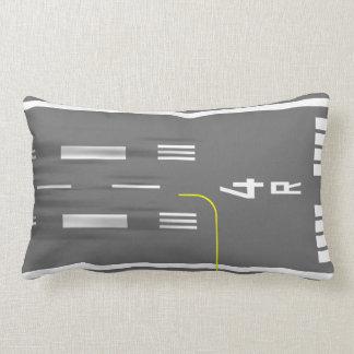 Cleared to Land Runway Pillow, Nice, FR 4/22 Lumbar Pillow