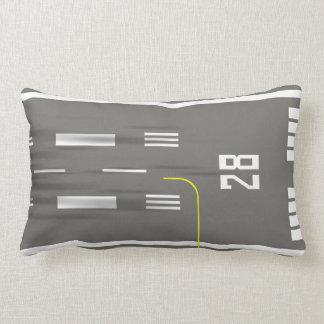Cleared to Land Runway Pillow, Princess Juliana 28 Lumbar Pillow