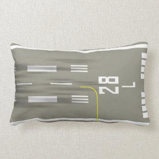 Cleared to Land Runway Pillow, San Fran SFO 28L/R Lumbar Pillow