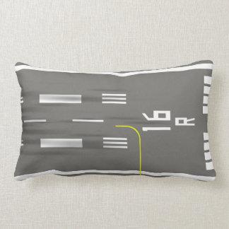 Cleared to Land Runway Pillow, SEA-TAC 16R/34L Lumbar Pillow