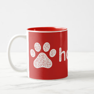 Clearly Hooman Dog Talk Two-Tone Coffee Mug