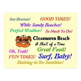 Clearwater Beach Crab Postcard