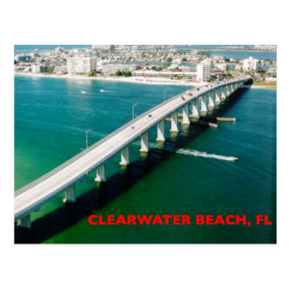 CLEARWATER BEACH FLORIDA POSTCARD