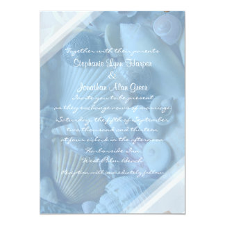 Clearwater Blue Wedding Invitation Template