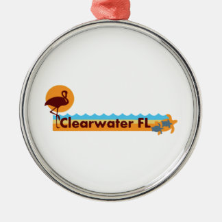 Clearwater Florida - Beach Design. Metal Ornament