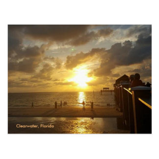 Clearwater Pier at Sunset Postcard