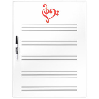 Clef Heart Music Dry Erase Board