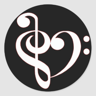 Clef Heart Sticker