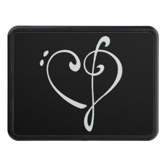 Clef Heart Trailer Hitch Cover