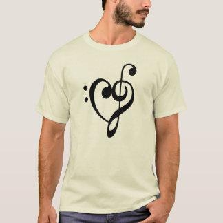 CLEF MUSIC HEART T-Shirt