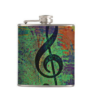 Clef Music Style Flasks