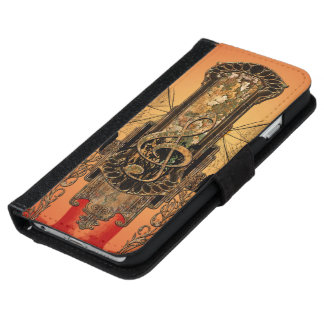 Clef on a decorative button iPhone 6 wallet case