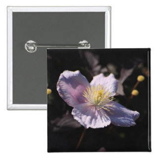 Clematis 2 Inch Square Button