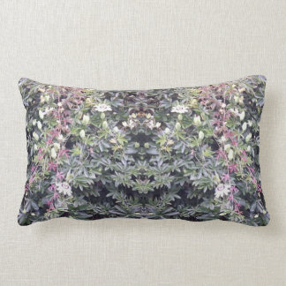 Clematis 714 Flower Photo Mirror Lumbar Pillow