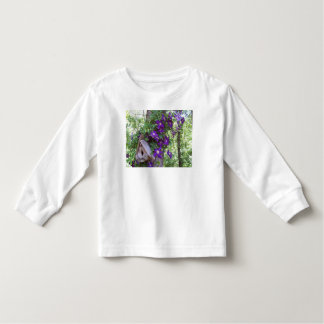 Clematis and birdhouse t shirts