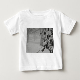 Clematis and Snow fall during a blizzard. Baby T-Shirt