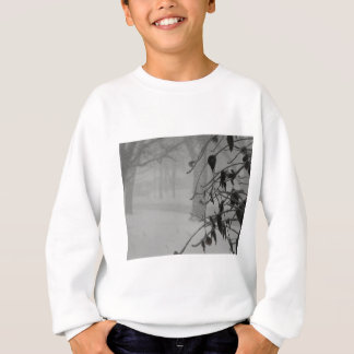 Clematis and Snow fall during a blizzard. Sweatshirt