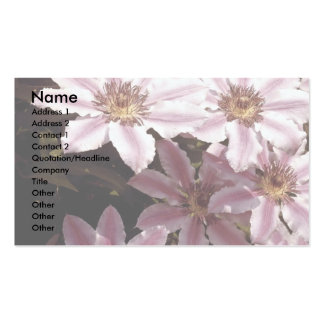 Clematis Business Card Templates