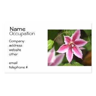 Clematis Pack Of Standard Business Cards