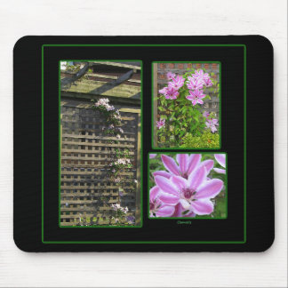 Clematis Collage Mousepad