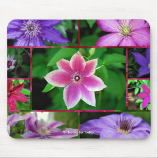 Clematis collage, mousepad