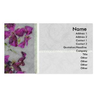 Clematis Elegant Paper Profile Card Business Card Template