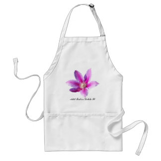 Clematis Flower Adult Apron