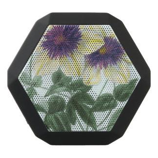 Clematis Flower Art Black Bluetooth Speaker
