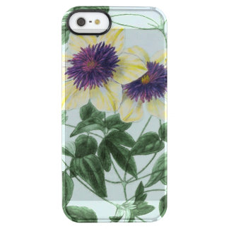 Clematis Flower Art Clear iPhone SE/5/5s Case