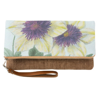 Clematis Flower Art Clutch