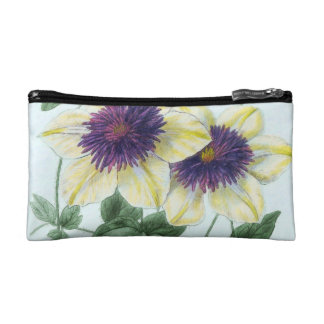 Clematis Flower Art Cosmetic Bag