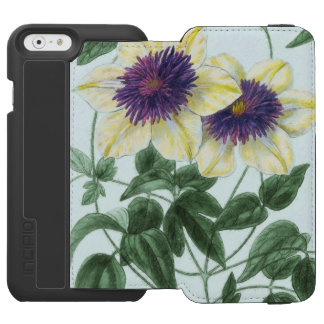 Clematis Flower Art Incipio Watson™ iPhone 6 Wallet Case