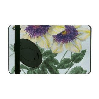 Clematis Flower Art iPad Case