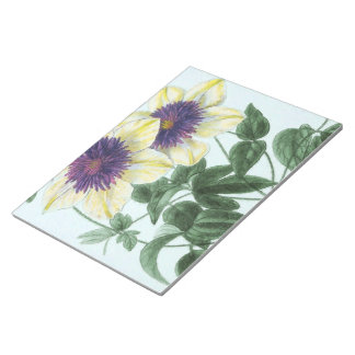 Clematis Flower Art Notepad