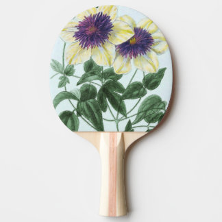Clematis Flower Art Ping Pong Paddle
