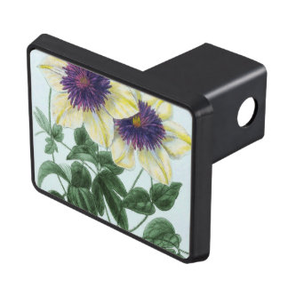 Clematis Flower Art Trailer Hitch Cover