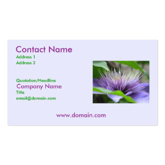 Clematis Flower Business Card
