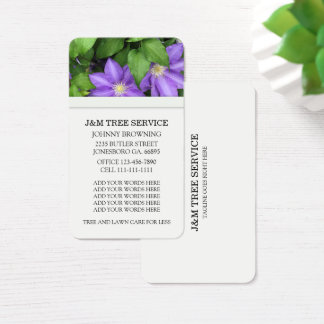 Clematis Flower Business Cards