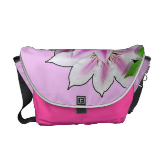 Clematis Flower Design On Lavender Commuter Bags