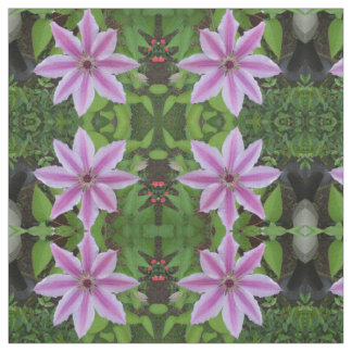 Clematis Flower Fabric