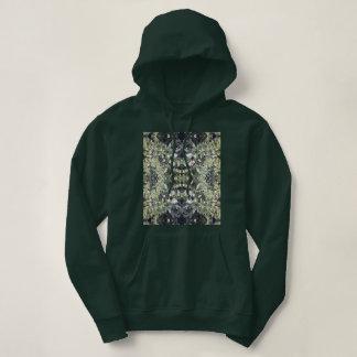 Clematis Flower Fractal MirrorC Hoodie Deep Forest