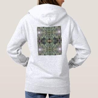 Clematis Flower Fractal MirrorD Hoodie (Ash)